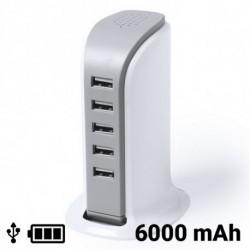 USB Tischladegerät 6000 mAh 145309 Weiß