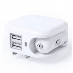USB Charger for Wall and Car 2100 mAh 145578 White