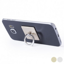 Adhesive Mobile Phone Holder with Double Function 145551 Silver