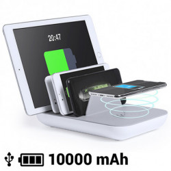 Wireless Charger for 5 Devices 10000 mA 145768 White/Grey