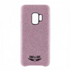Chic & Love Capa Samsung S9 CHCAR007 Purpurina Cor de rosa