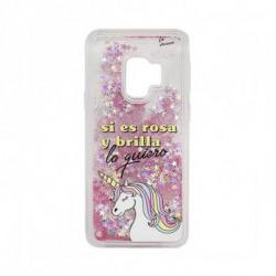Tan Tan Fan Case Samsung S9 TFCAR045 Transparent Pink