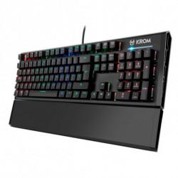 Krom Teclado Gaming Kempo LED RGB Preto
