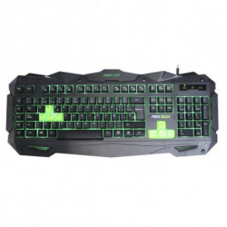 KEEP OUT Teclado Gaming F80 Negro/verde