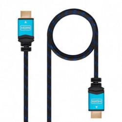 Nanocable 10.15.3700 cavo HDMI 0,5 m HDMI tipo A (Standard) Nero