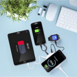 Kabelloses Qi-Ladegerät mit USB-Anschlüssen 3100 mAh 145955 Weiß