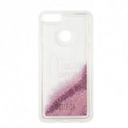 Dulceida Capa Xiaomi Mi A1 DLCAR012 Transparente Purpurina Cor de rosa
