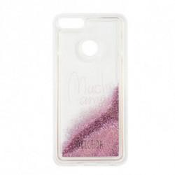 Dulceida Case Xiaomi Redmi Note 4 DLCAR013 Transparent Glitter Pink