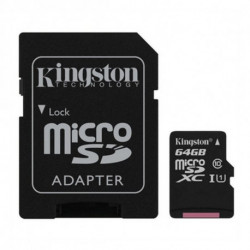 Kingston Technology Canvas Select cartão de memória 64 GB MicroSDXC Class 10 UHS-I