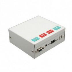 Traulux Schirmanschlusskasten für das interaktive Whiteboard TCCB5M HDMI VGA 3,5 mm USB Metall