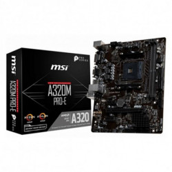 MSI A320M PRO-E placa base Zócalo AM4 Micro ATX AMD A320