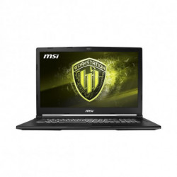 MSI Workstation WE63 8SJ-622ES Noir Ordinateur portable 39,6 cm (15.6) 1920 x 1080 pixels Intel® Core™ i7 de 8e génération i...