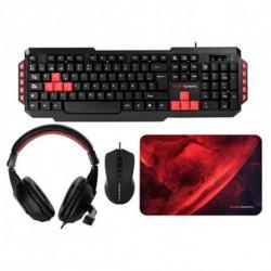 Mars Gaming MRCP1 keyboard USB Black,Red