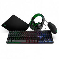 BG Pack GamingX4PCK (4 Pcs) Black Green