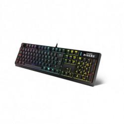 Krom Teclado Gaming Movistar Riders NXKROMRIDERSK RGB USB Preto