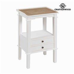 Table pour téléphone avec 2 tiroirs by Craftenwood