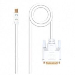 NANOCABLE Adapter Mini DisplayPort an VGA 10.15.410 Weiß 3 m