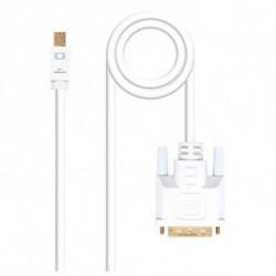 NANOCABLE Adattatore Mini DisplayPort con VGA 10.15.410 Bianco 3 m