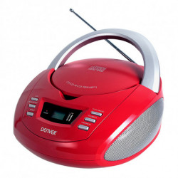 Denver Electronics TCU-211RED lettore CD Lettore CD personale Rosso, Argento