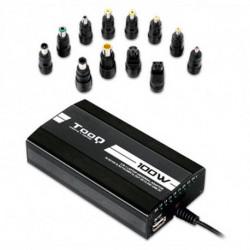 TooQ TQLC-100BS01M carregador de dispositivos móveis Automático, interior, Exterior Preto