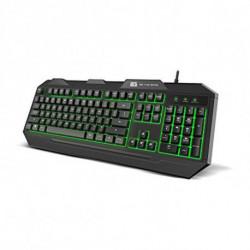 BG Teclado GamingFOX LED RGB Negro