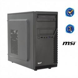 iggual PC de bureau PSIPCH41 G5400 4 GB RAM 1 TB HDD Noir Sans système d'exploitation
