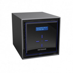 Netgear ReadyNAS 424 Eingebauter Ethernet-Anschluss Schwarz NAS