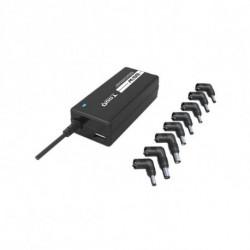 TooQ TQLC-65BS02AT adaptador e inversor de corriente Interior 65 W Negro