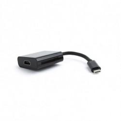 GEMBIRD Adattatore USB C con HDMI A-CM-HDMIF-01 15 cm Nero