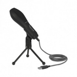 DELOCK Microphone de Bureau 65939 USB 2.0 Noir