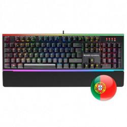 Mars Gaming MK6 clavier USB QWERTY Portuguais Noir