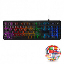 Mars Gaming MK218DE keyboard USB QWERTZ German Black