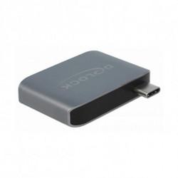 DELOCK Adattatore Audio Jack 63965 USB-C USB 3.0 Antracite