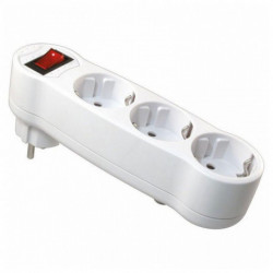 NIMO Multipresa con 3 Prese Schuko con Interruttore MEL-050 16A 3500W 250V Bianco