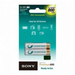 Sony Akkus AAA 800 mAh (2 Pcs)