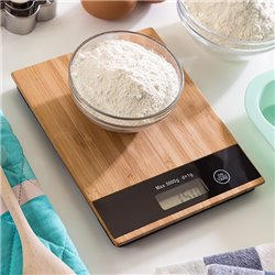 Báscula Digital de Cocina de Bambú 5 kg