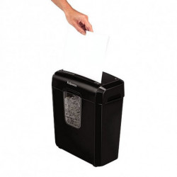 Fellowes Distruggi Documenti Micro Taglio 4687401 11 L 6 Foglie Nero