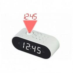 Denver Electronics CRP-717 rádio Relógio Digital Branco