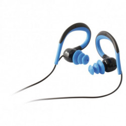 Sport-Kopfhörer mit Mikrofon Schwarz Blau