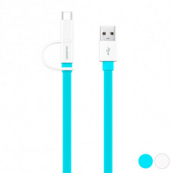 Huawei Cable USB a Micro USB y USB C 1,5 m Azul
