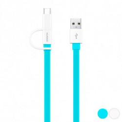 Huawei Câble USB vers Micro USB et USB C 1,5 m Bleu