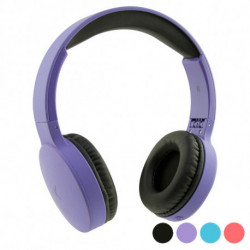 Foldable Headphones with Bluetooth Go & Play Travel Purple