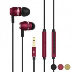 Auriculares com microfone Go & Play Sky Alumínio Preto