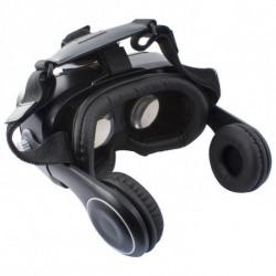 Virtual Reality Glasses with Headphones Black