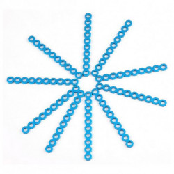 Makeblock Connettore Corto Ritagliabile 8 cm Azzurro (10 Uds)