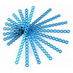 Makeblock Long Cuttable Connector 16 cm Blue (10 Uds)