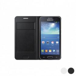 Samsung Flip Wallet para Galaxy Core LTE G386F Blanco