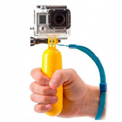 Floating Selfie Stick for Sports Camera Yellow