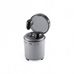 Auricolari Bluetooth con Microfono FM USB 3W Argentato 146192 Argentato
