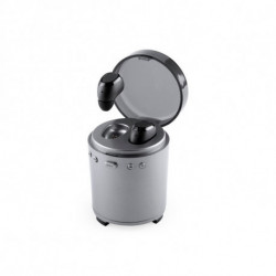 Bluetooth Headset with Microphone FM USB 3W Silver 146192 Silver